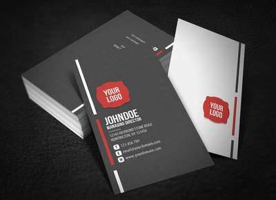 Απλές έγχρωμες επαγγελματικές κάρτες