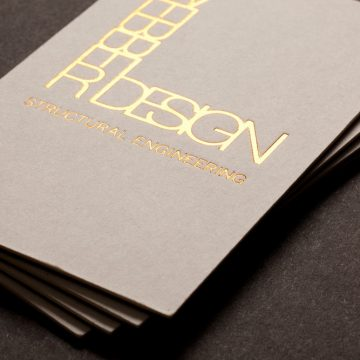 Επαγγελματικές κάρτες με χρυσοτυπία